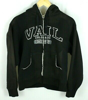 43378a806 Vail Colorado 1966 Black Jansport Full Zip Hoodie Size S