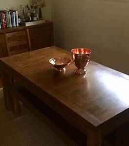 8 seater dining table with benches and 2 chairs Killara Ku-ring-gai Area Preview