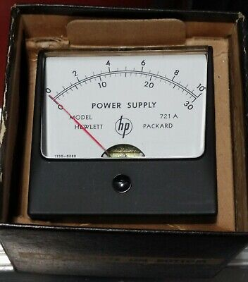 Hewlett Packard Simpson Power Supply 0-10 And 0-30 Panel Meter 721a