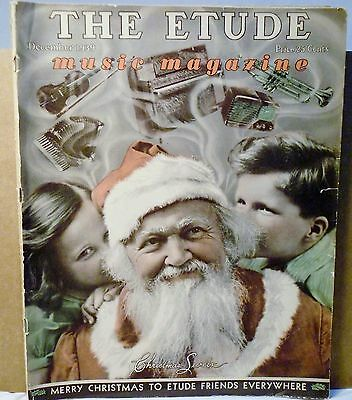 Vtg Etude Music Magazine December 1939 Volume LVII No. 12 Christmas