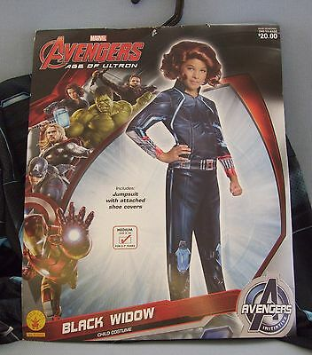 Black Widow Baby Halloween (Avengers Black Widow Child Halloween Costume Age Of Ultron Marvel Size 8-10)