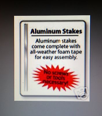 - 2  ALUMINUM ...SECURITY ALARM YARD SIGN STAKES + HEAVY DUTY DOUBLE TAPE
