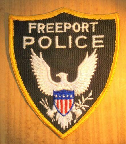 GEMSCO NOS Vintage Collectible Patch POLICE FREEPORT OH - Original 40+