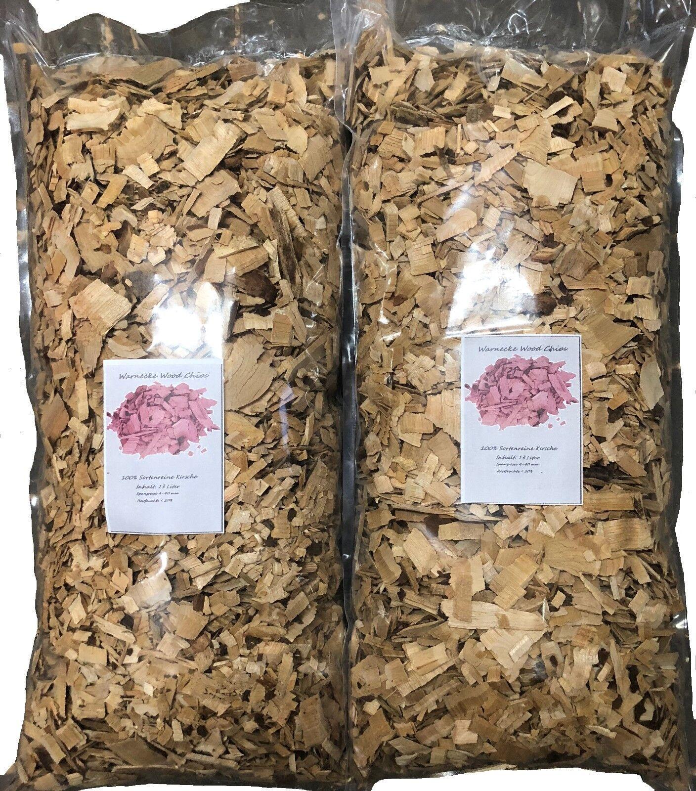 Wood Chips, Buche,  26 Liter  Räucherchips für Grill und Smoker BBQ