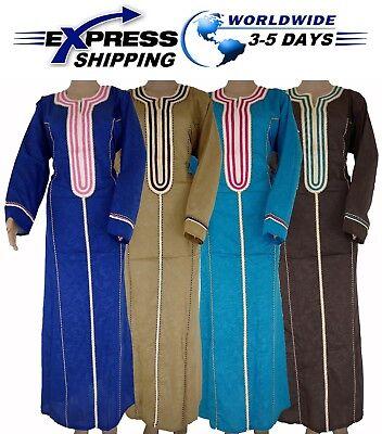 Egyptian Attire (Arabic Islamic Egyptian Cotton Abaya Galabeya Jilbab Dress Kaftan Muslim)