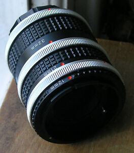 Canon FD  Auto extension tubes made in japan 12mm 21mm 32mm