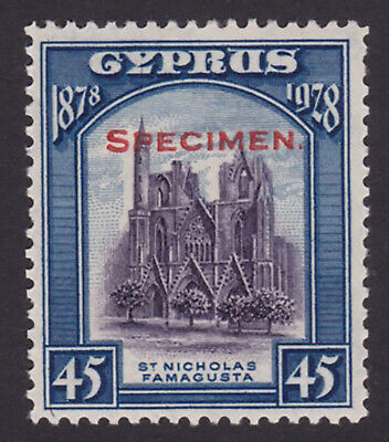 Cyprus. SG 131s, 45pi violet blue, specimen. Fine mounted mint.