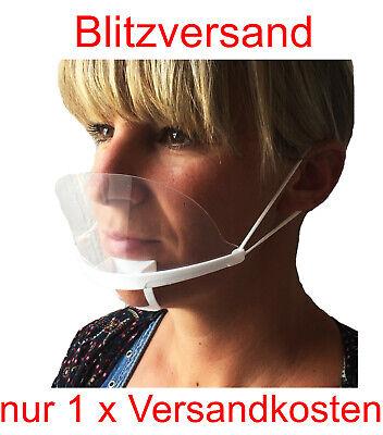 10 Stk Face shield Gesichtsschild Plastikmaske Schutzvisier Gesichtsvisier Maske