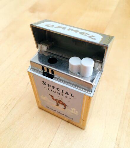 Vintage 1990s Camel Cigarette Promo Lighter Gold Flip Top Joe Zippo Pack Premium
