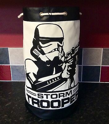 Stormtrooper Duffle Bag - Black Stormtrooper Decal On A White Background