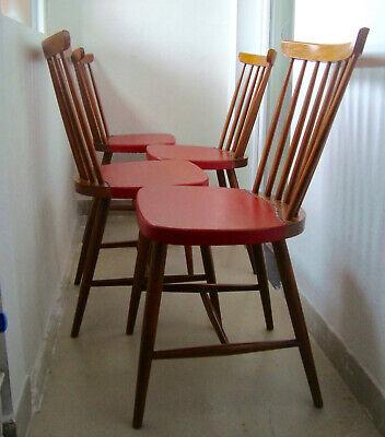 Lot de 5 chaises vintage / Design scandinave / Style Fanett d'Ilmari Tapiovaara