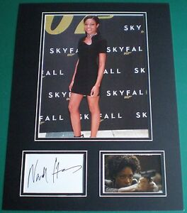 Genuine-Naomie-Harris-Signed-Autograph-Photo-Mounted-Skyfall-James-Bond