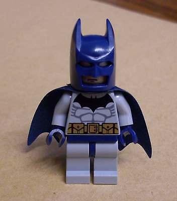 Figuren grau mit blauer Maske und Umhang Superhelden Neu (Batman Blau Und Grau)