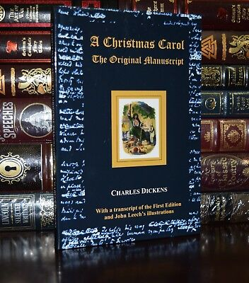 Christmas Carol Charles Dickens Illustrated John Leech New Collectible Hardcover