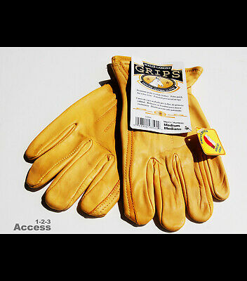 New Wells Lamont Genuine Cowhide Leather Working Gloves Medium Mens