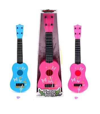 4 String Mini Plastic Acoustic Guitar Kids Musical Toy With Pick Ukulele Toy UK