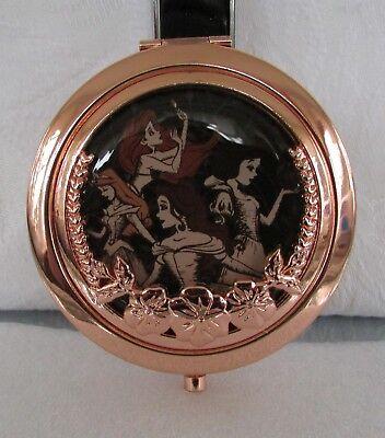 Disney Princess Rose Gold Compact Mirror Ariel Belle Snow White Aurora NEW! (Disney Princess Rose)