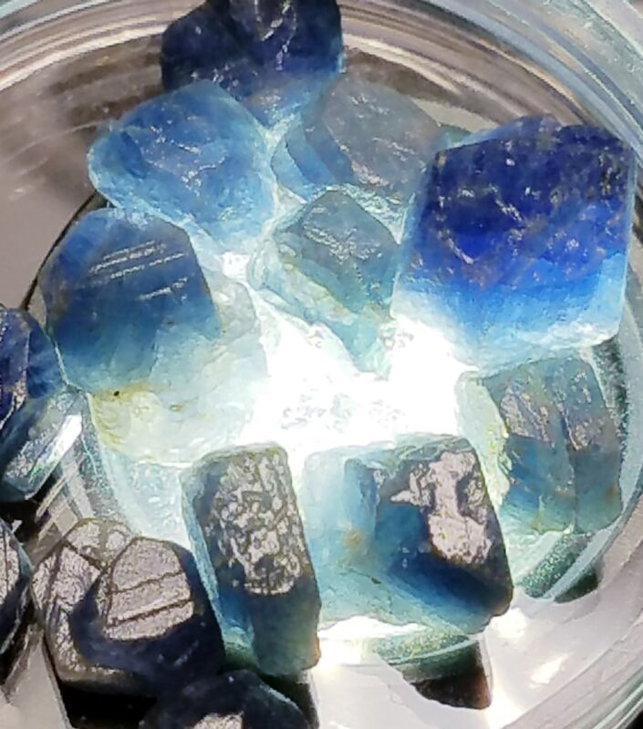 Very Nice Structures 40+carats Lot Natural Blue Sapphire Rough Crystals Africa