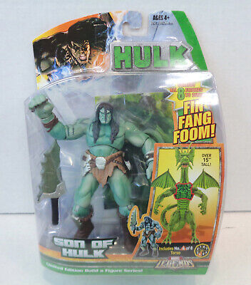 Marvel Legends: Son Of Hulk Action Figure (2007) Hasbro New Fin Fang Foom BAF