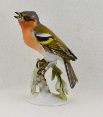 "Rosenthal Porcelain Bird Figurine Chaffinch/Fink #1651 (6"" Tall)"