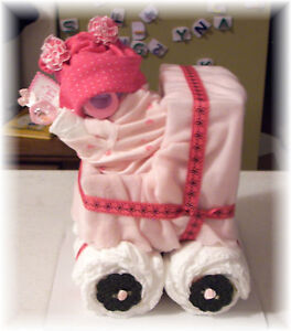Diaper-Cake-Baby-Girl-Stroller-Baby-Shower-Gift-0