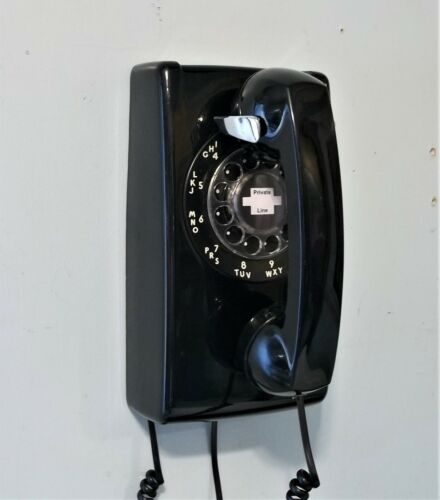 Vintage Phone Western Electric Bell System Rotary Dial Wall Phone RESTORED !
