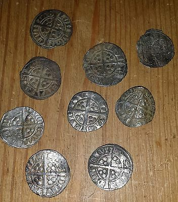 Hammered silver coins from 1300.