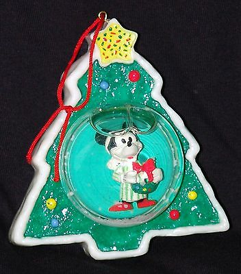 VINTAGE DISNEY World Land MICKEY MOUSE Tree Ornament Globe