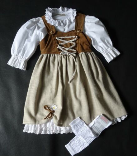 Girls German Austrian Dirndl Dress Blouse 5 years