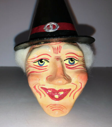 VINTAGE HALLOWEEN WITCH NOISE MAKER.  Germany  MINTY  RARE. VINTAGE. VINTAGE.