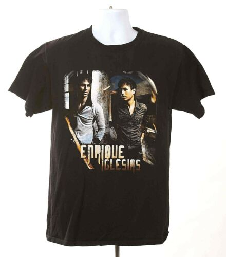 Enrique Iglesias 2011 Euphoria Tour T-Shirt Medium Black Cotton Short Sleeve