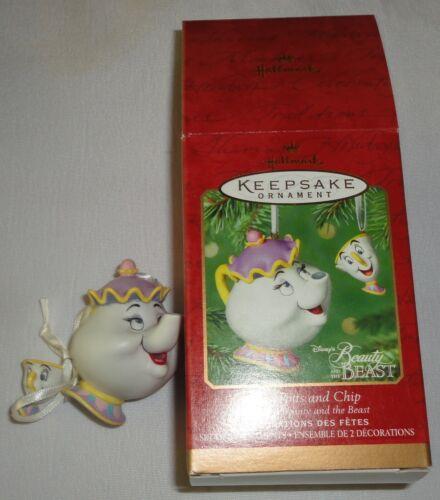 Mrs Potts and Chip 2001 Hallmark Keepsake Ornament Disney