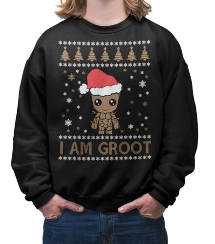 Baby Groot Christmas Jumper Funny Ugly Xmas Sweater Gift Unisex Adults & Kids