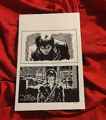 THE CROW~SMILE~INTERIOR HARDCOVER BOOK PAGE/PRINT~HAND-SIGNED BY JAMES O'BARR