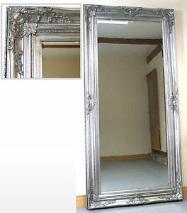 harrow extra large silver rectangle full length floor wall mirror 68 x 34 ebay. Black Bedroom Furniture Sets. Home Design Ideas