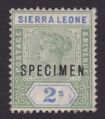 Sierra Leone. SG 51s, 2/- green & ultramarine, specimen.