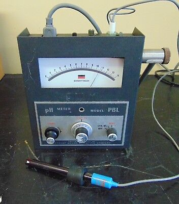 Sargent-welch Scientific Ph Meter Model Pbl Good Cosmetic Condition H81