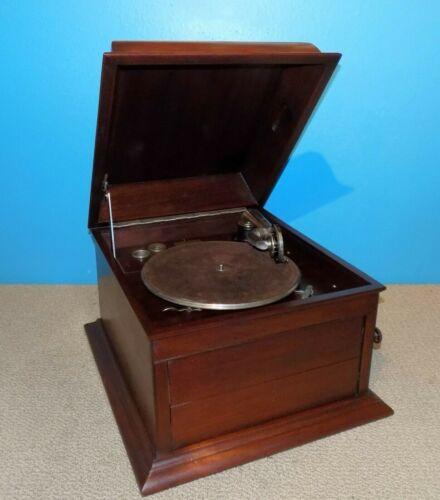 Columbia Graphophone Hand Crank Phonograph London Free Shipping