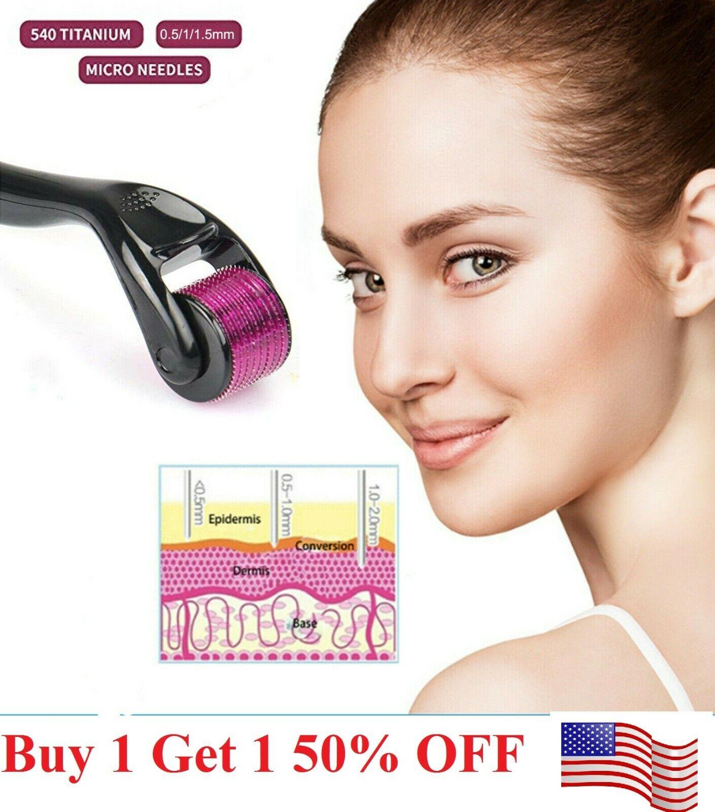 540 Titanium Micro Needle Scar Derma Roller Dermaroller Microneedle Skin Therapy Anti-Aging Products