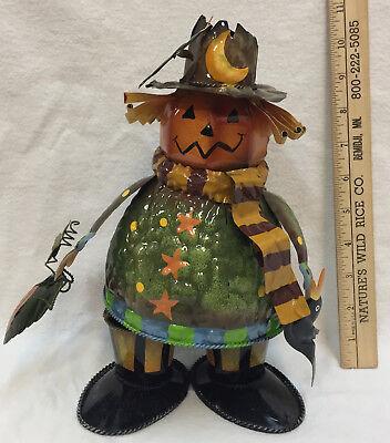 Halloween Pumpkin Jack O Lantern Bobble Head Wobbles Wiggles Dances Metal 10