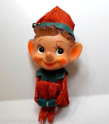 """Vintage Sparky the Knee Hugger Elf w/ huge head Japan 6 1/2""""H"""