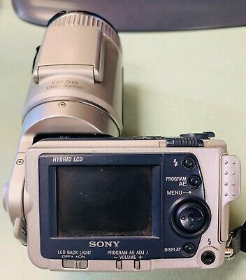 *SONY CYBERSHOT DSC-F505V DIGITAL CAMERA- SILVER- 10x DIGITAL ZOOM- WORKS GOOD*