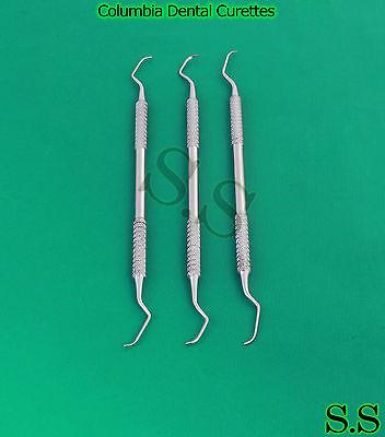 3 Columbia Curette Surgical Dentist Dental Instruments 4l4r 1314 2l2r