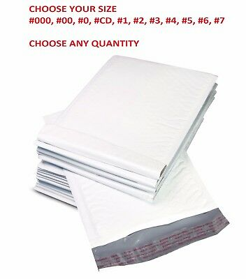 ANY SIZE POLY BUBBLE MAILERS SHIPPING MAILING PADDED BAGS ENVELOPES SELF -