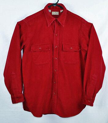 Small Chamois (LL Bean  100% Cotton Chamois Cloth Shirt Size Small 16 Regular (Style)