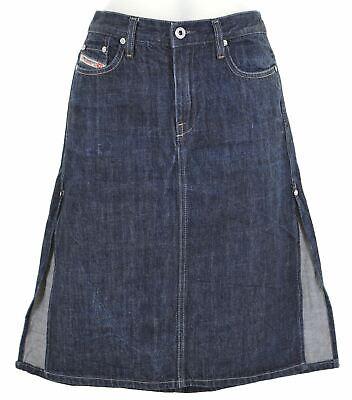 DIESEL Womens Denim Skirt Size 10 Small W27 L22 Blue Cotton Low Waist ES17 Diesel Cotton Skirt