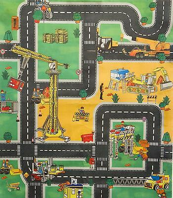 car road police fire or construction playmat kids boys play mat childrens gift