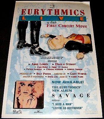 Eurythmics Live 1988 Original 27x41 Movie Poster Annie Lennox Concert Film