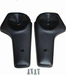 Mopar-71-72-73-74-75-76-Barracuda-Challenger-Bucket-Seat-Hinge-Covers-Black