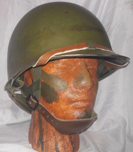 WW2 1942 M2 D-Bail Paratrooper Helmet and M1C Westinghouse Liner FS, SS Rim, FB